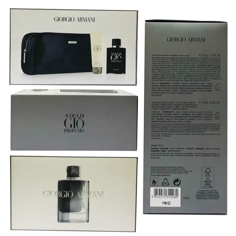 Acqua Di Gio Profumo By Giorgio Armani Parfum Pour Homme 25 Oz 3 Pc